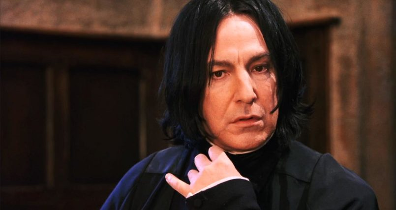 Alan Rickman as Snape in Harry Potter