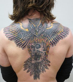 Shane O'Brien back tattoo