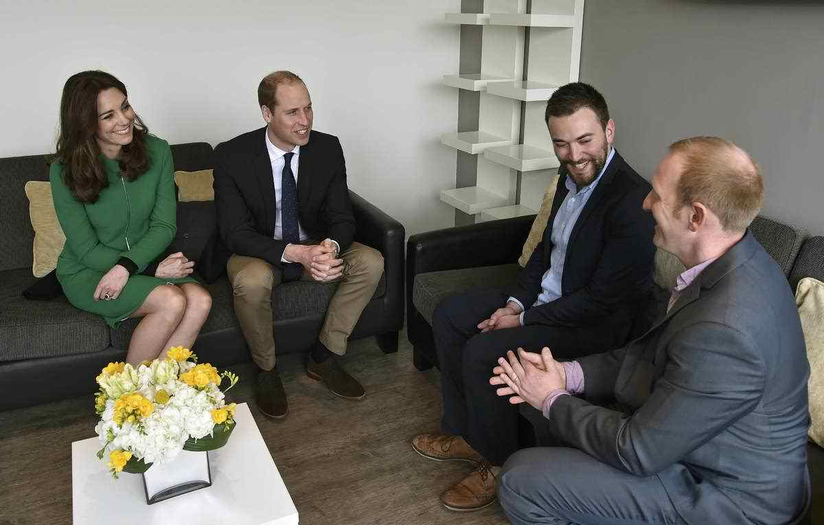 a picture of Jonny and Neil meeting Prince William and the Duchess of Cambridge