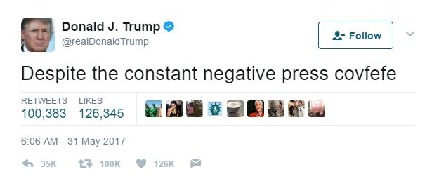covfefe tweet donald trump