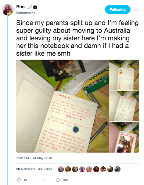 Girl Feels Guilty About Leaving Her Sister To Go Travelling, Makes Her Heartwarming Present unnamed 6