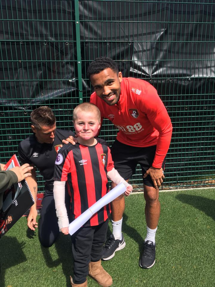 Mason, the Butterfly Boy, meets ABFC players
