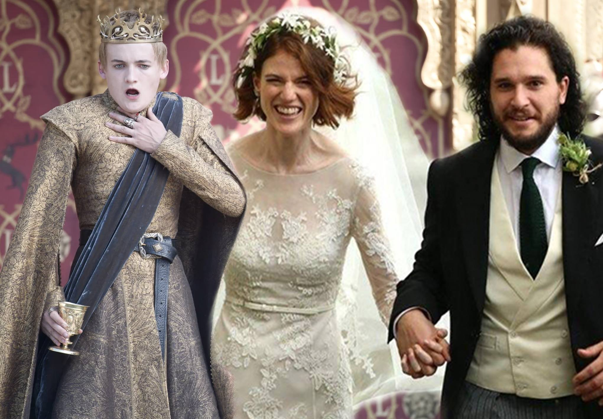 Kit Harington And Rose Leslie Wedding Pics Photoshopped Into Game Of