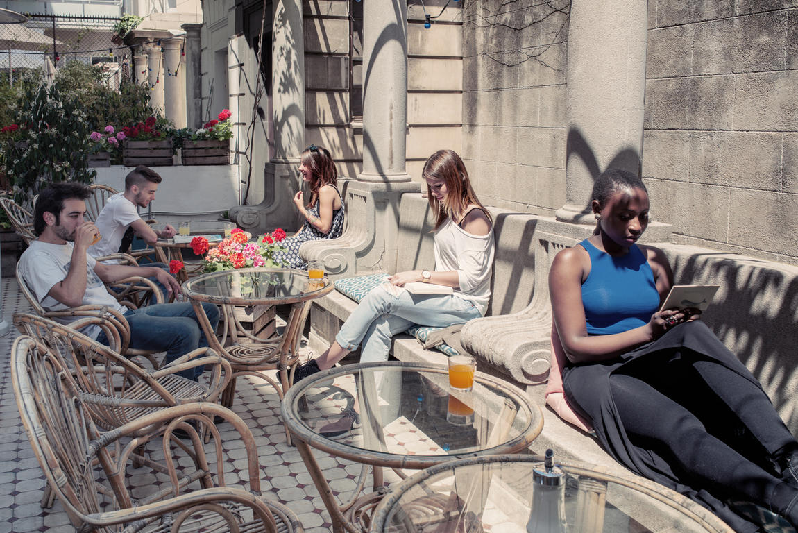 The terrace at Barcelona hostel, Casa Gracia, by Hostelworld