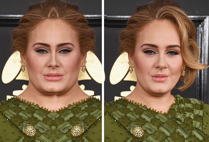 Celebrities With Symmetrical Faces Is Seriously Creepy Adele Symmetrical