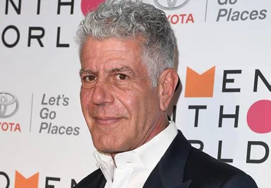 American chef Anthony Bourdain