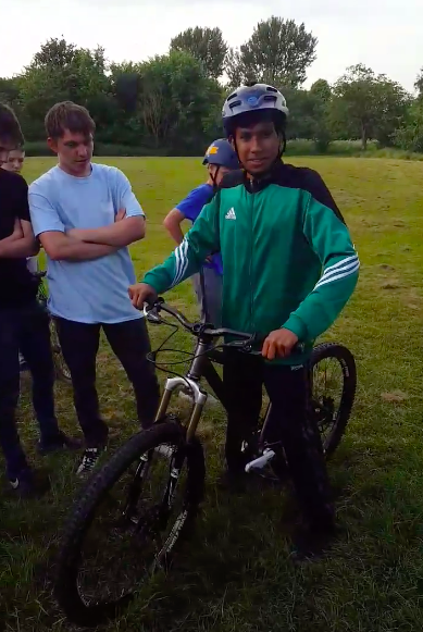 Community Group Builds Special Bike For Young Lad BIKE 1
