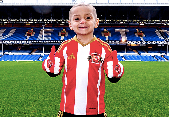 Bradley Lowery at Goodison Park