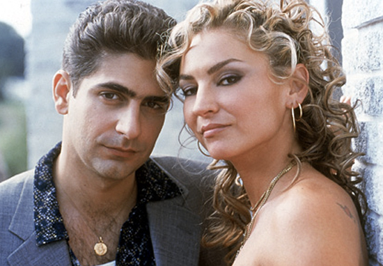 Adriana and Christopher in The Sopranos