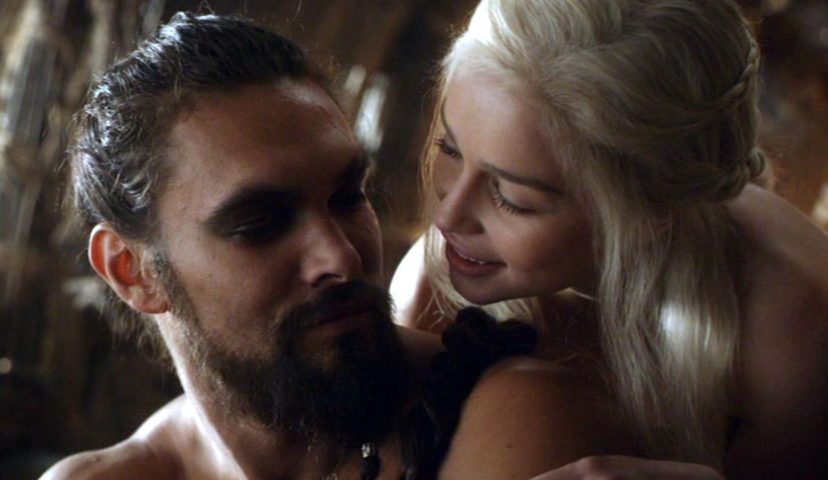 khal drogo and daenerys game of thrones Jason mamoa and Emilia Clarke