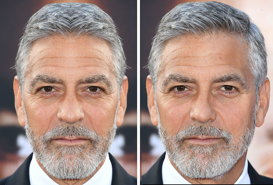 Celebrities With Symmetrical Faces Is Seriously Creepy Geroge Clooney Symmetrical