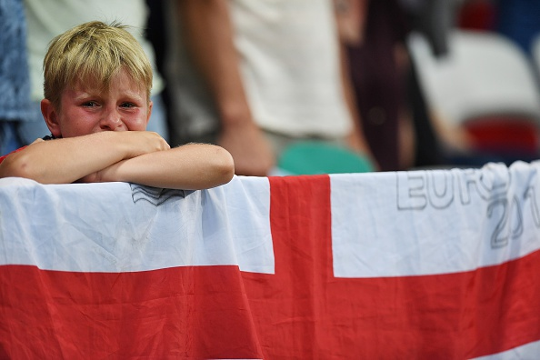 England fan crying at Euro 2016