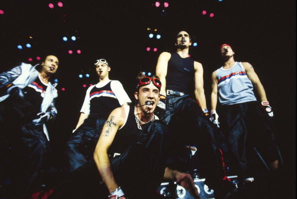 Backstreet Boys performing on stage