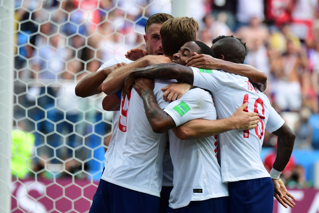 England team celebrate Russia 2018