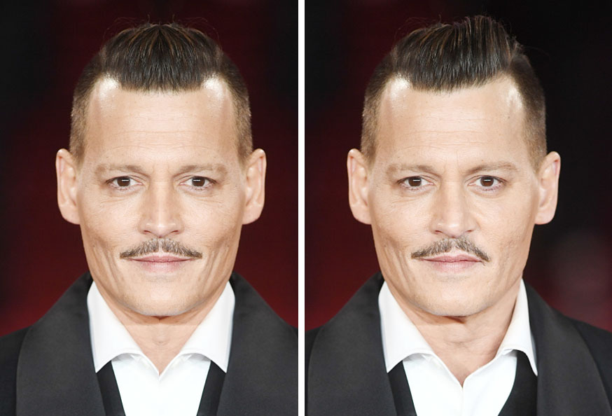 Johnny Depp Symmetrical