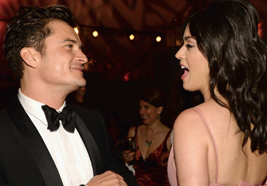 Katy Perry comments on Orlando Bloom's Instagram.