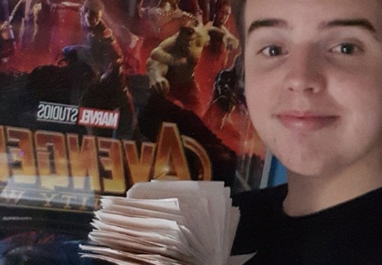 Avengers Super Fan Has Seen Infinity War 100 Times With Tickets To Prove It KieranMarvel