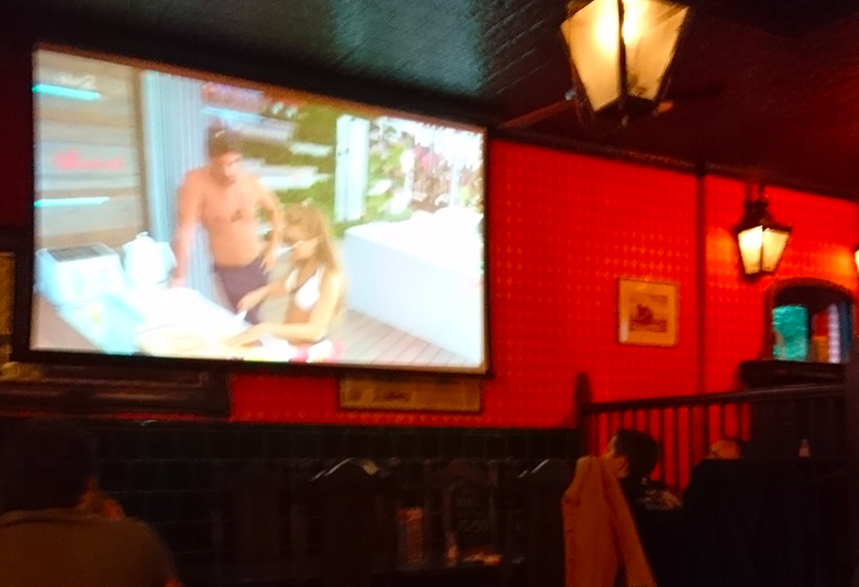 Love island world cup pub big screen