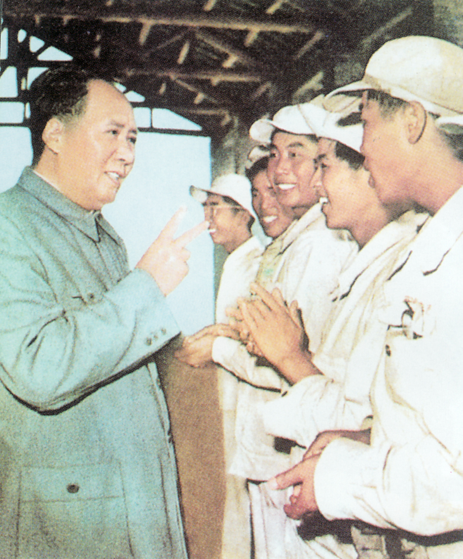 Chairman Mao with his people