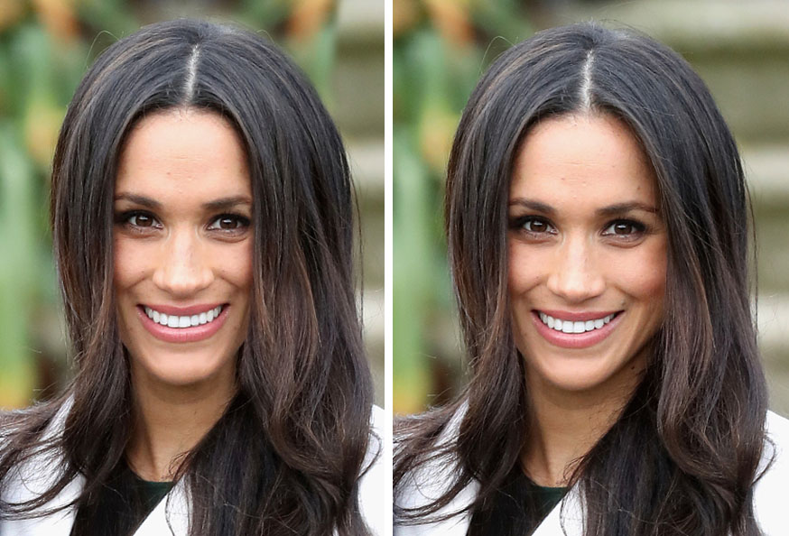 Celebrities With Symmetrical Faces Is Seriously Creepy Meghan Markle Symmetrical