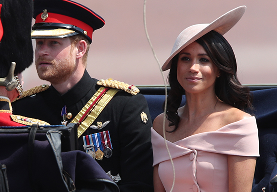 Meghan Markle and Prince Harry Trooping The Colour
