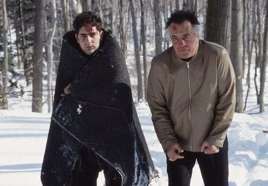 Christopher and Paulie in the woods