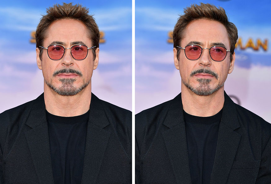 Robert Downey Jnr Symmetrical