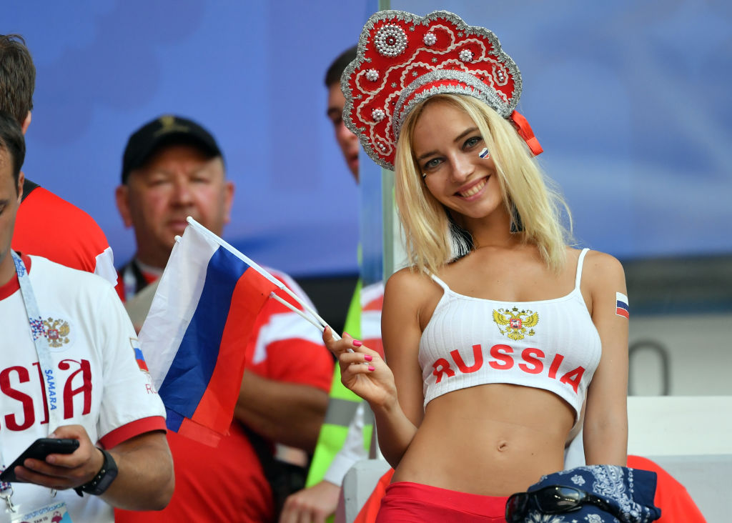 Russia fan at World Cup