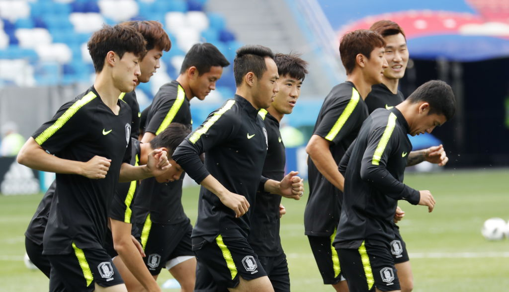 South Korea football team training