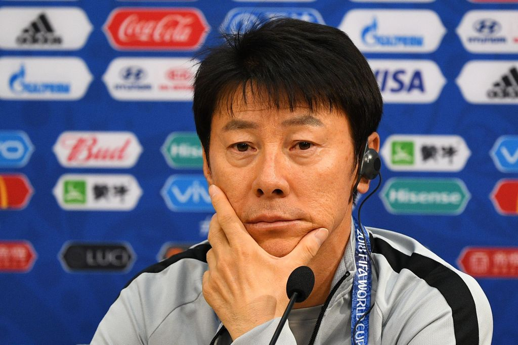 South Korea's coach Shin Tae-yong
