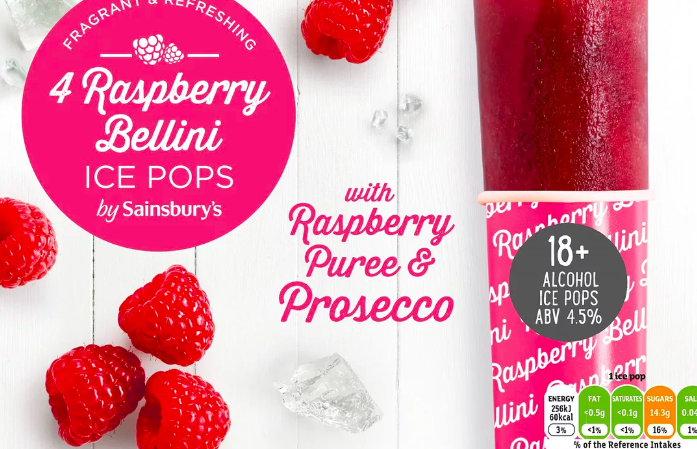 Sainsbury's Raspberry Bellini ice pops