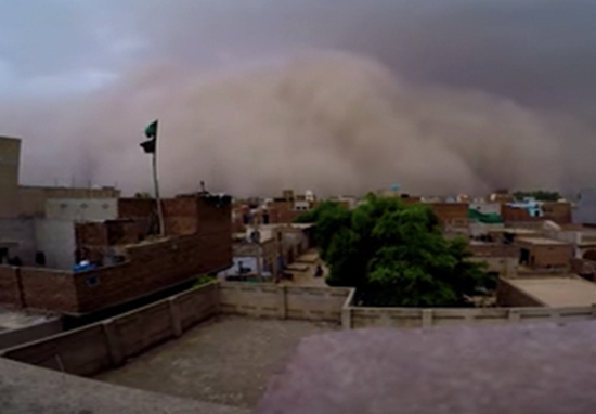 Sandstorm caught on camera