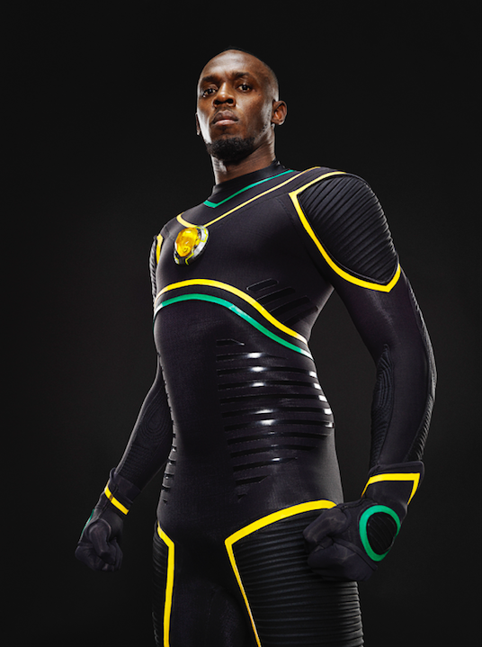 New Pictures Reveal Usain Bolt As A Superhero