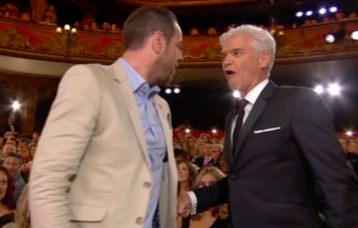 Danny Dyer Squares Up To Phillip Schofield Live At The Soap Awards Screen Shot 2018 06 03 at 09.09.33