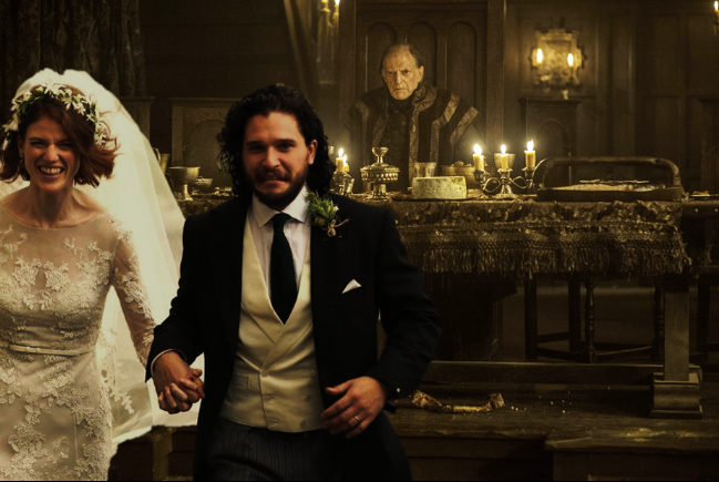 Kit Harington And Rose Leslie Wedding Pics Photoshopped Into Game Of Thrones Scenes
