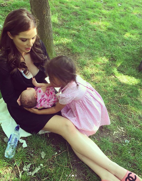Helen Flanagan Breastfeeding