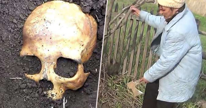 Man finds skull of wife's ex husband.
