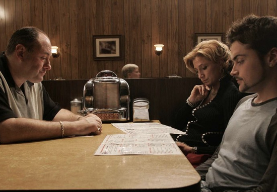 The Sopranos in the Jersey diner
