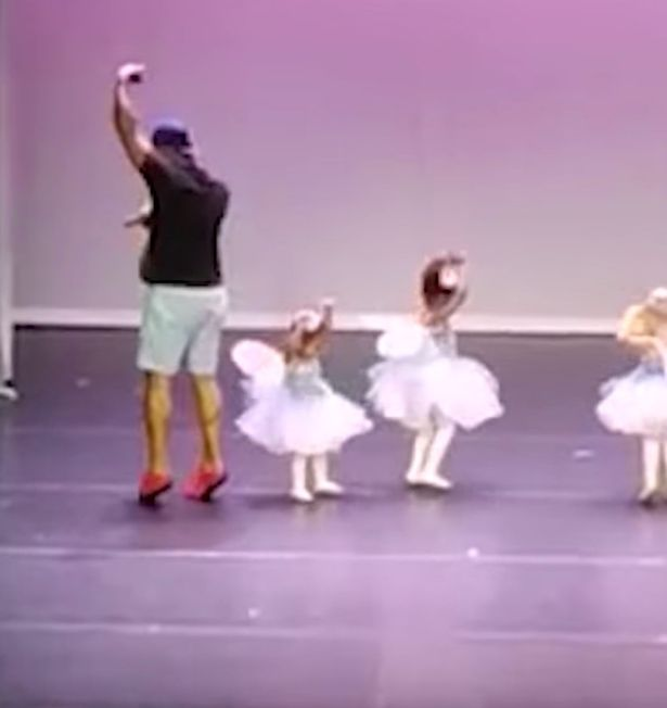 Dad Gets On Stage To Do Ballet With His Daughter After She Suffers Stage Fright