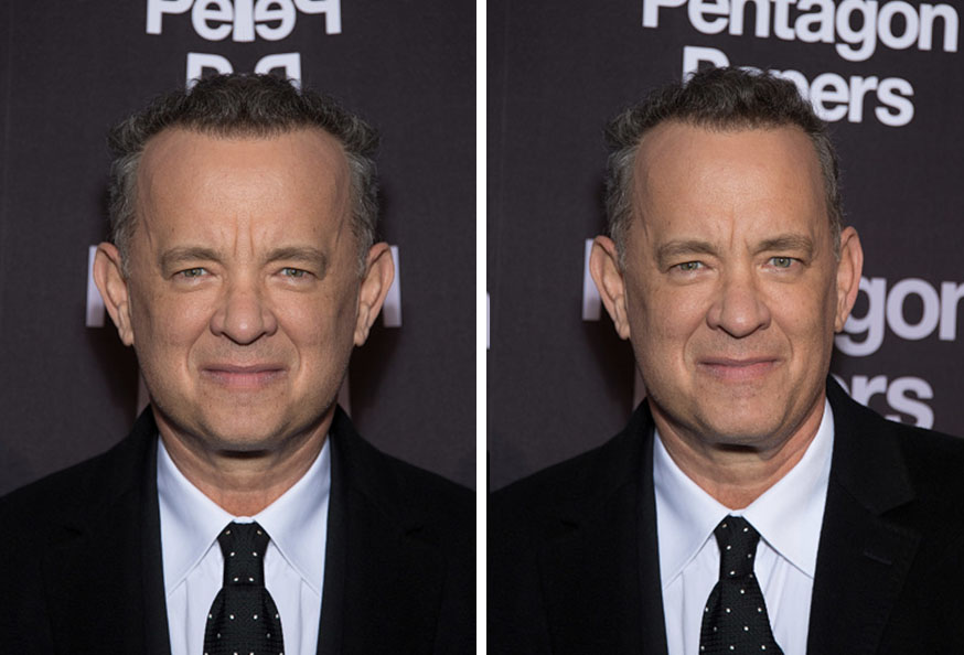 Tom Hanks Symmetrical