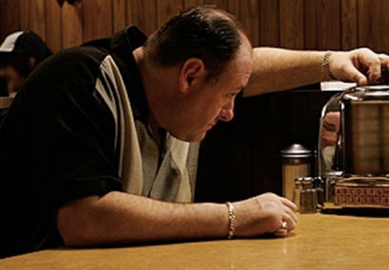 Tony Soprano in the Jersey diner
