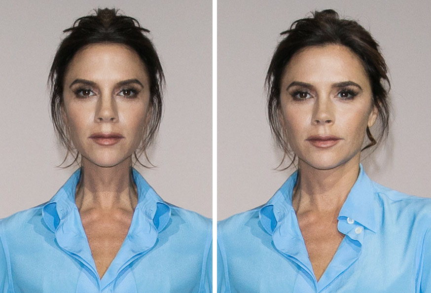 Celebrities With Symmetrical Faces Is Seriously Creepy Victoria Beckham Symmetrical