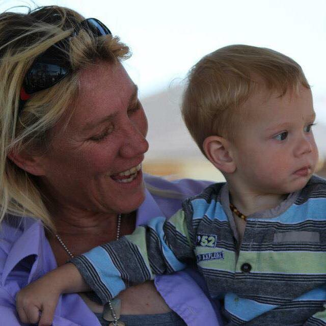 Lisa Bridger and son Chase