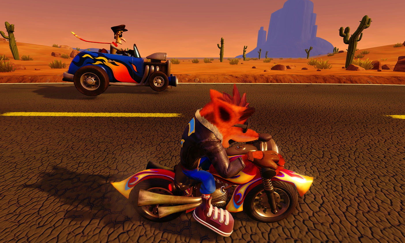 Crash bandicoot motorbike