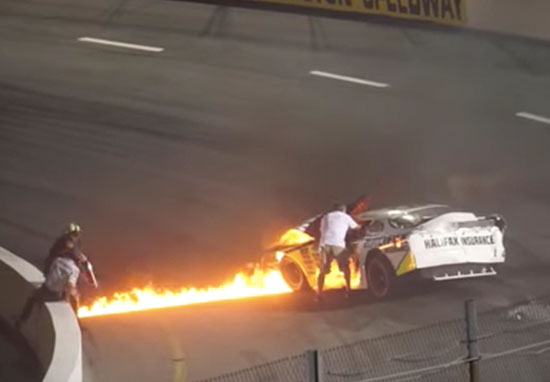 Dad Saves Son From Burning Car