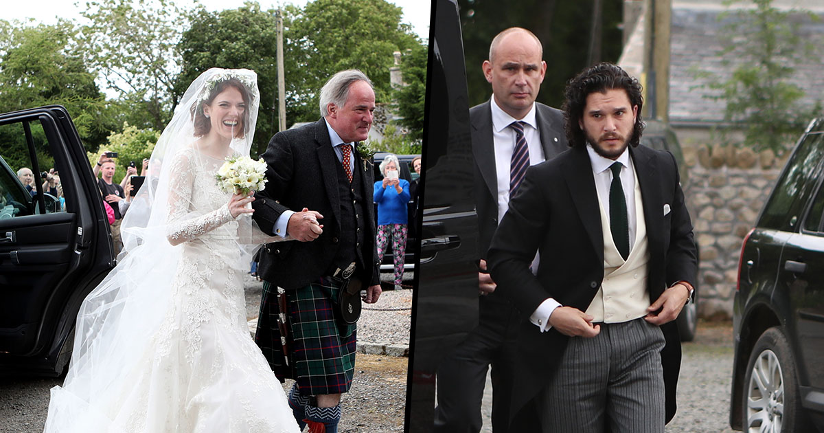 Kit Harrington and Rose Leslie Wedding