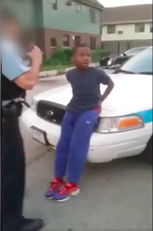 10-year-old in handcuffs
