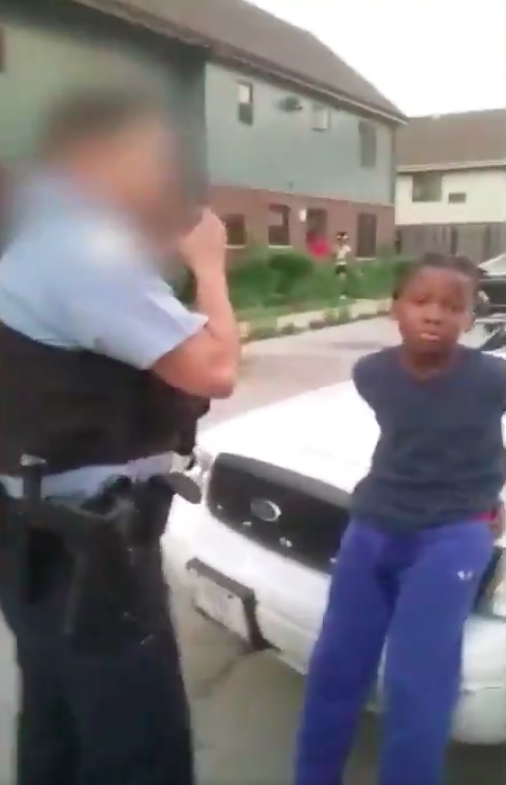 10 year old in handcuffs