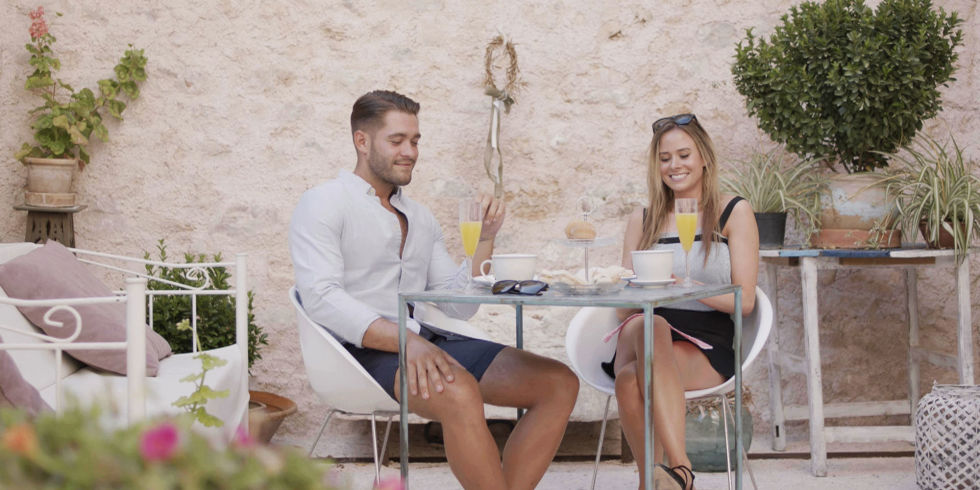 Camilla and Jonny on a date in Love Island