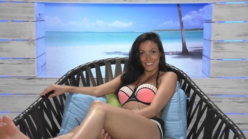 Sophie Gradon on Love Island in 2016
